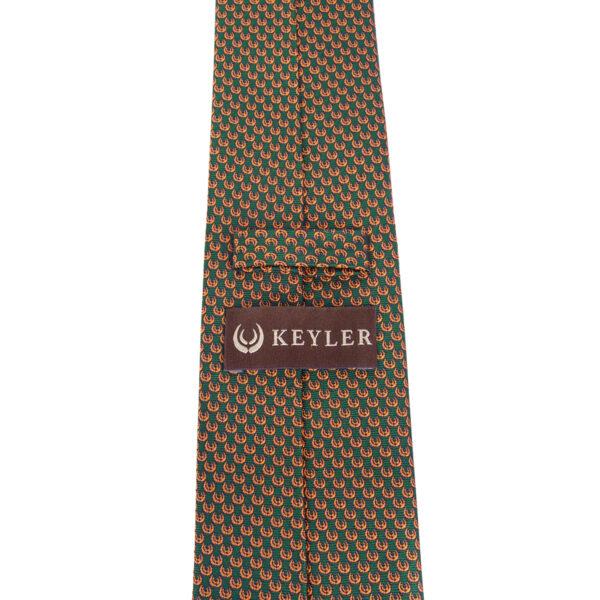 "KEYLER Krawatte ""Basse"" Dunkelgrün/Orange im Keylershop"