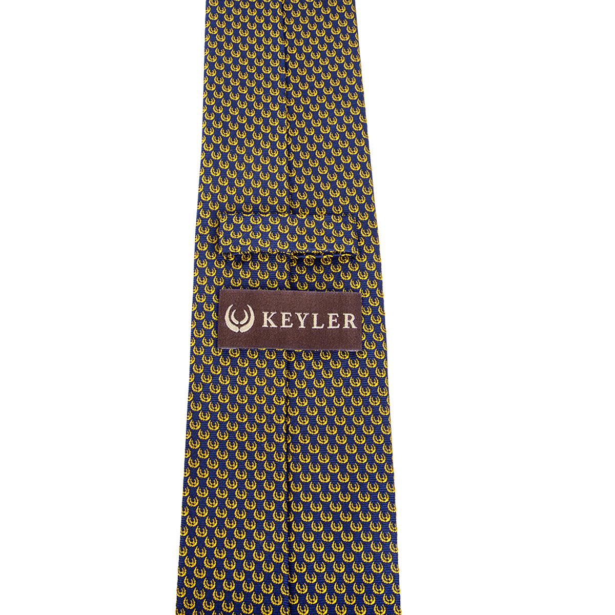 "KEYLER Krawatte ""Basse"" Dunkelblau/Gold im Keylershop"