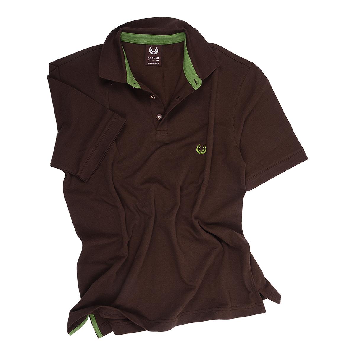 KEYLER Poloshirt Herren Dunkelbraun-Hellgrün im Keylershop