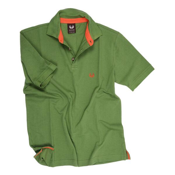 KEYLER Poloshirt Herren Mittelgrün-Orange im Keylershop