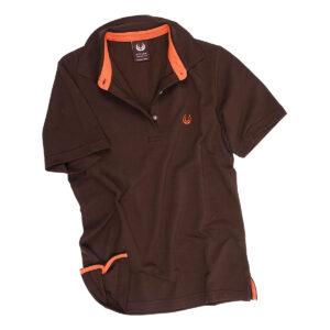 KEYLER Poloshirt Damen Dunkelbraun-Orange im Keylershop