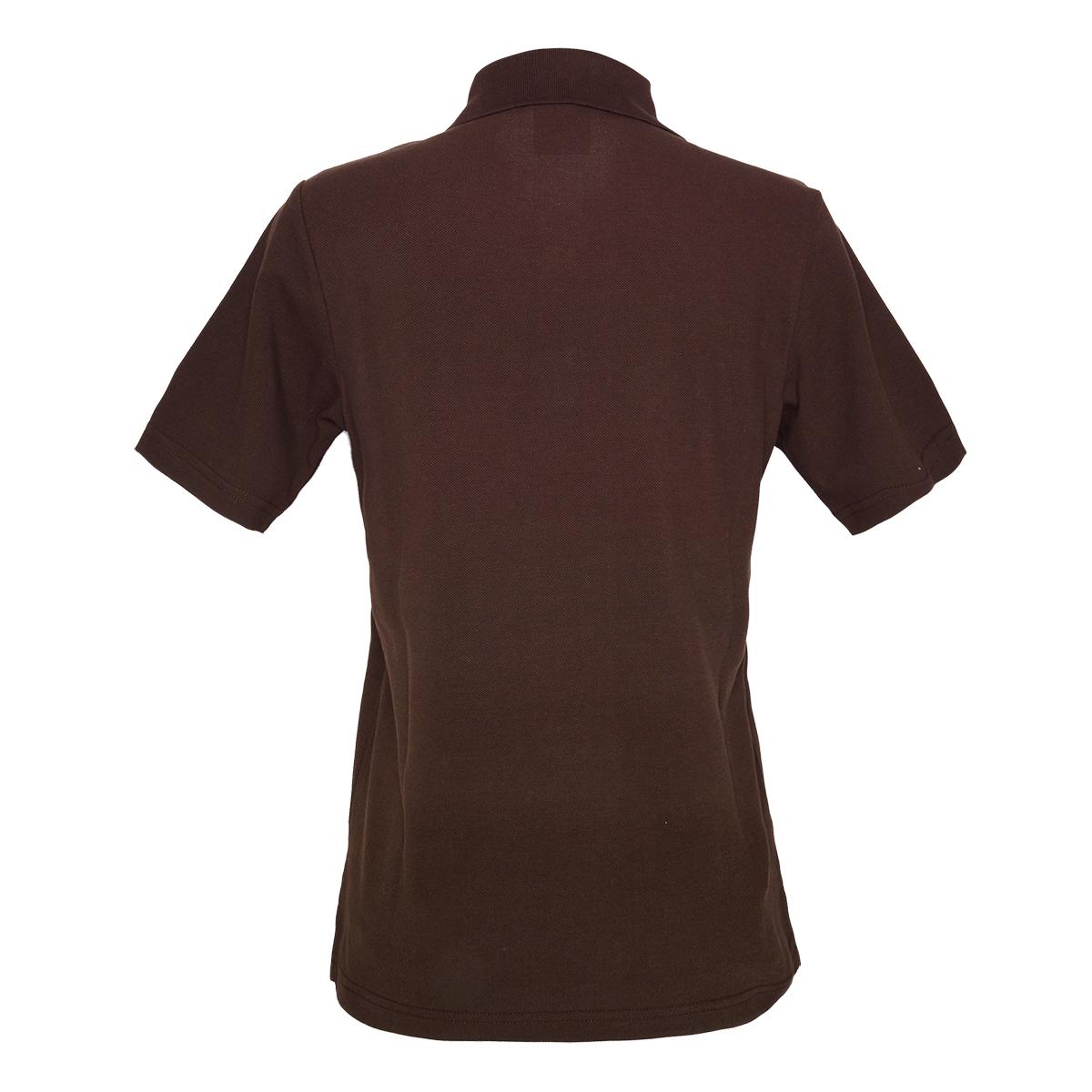 KEYLER Damen Poloshirt Dunkelbraun-Orange im Keylershop