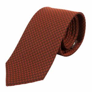 """KEYLER Krawatte """"Basse"""" Dunkelorange/Braun im Keylershop"""