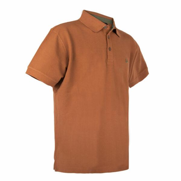 KEYLER Poloshirt Herren Mittelbraun im Keylershop