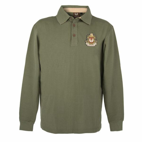 KEYLER Langarm-Poloshirt Herren Olivgrün im Keylershop