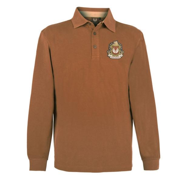 KEYLER Langarm-Poloshirt Herren Mittelbraun im Keylershop