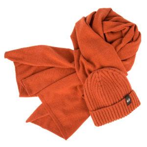 KEYLER Set Winter Kaschmir Orange  (Mütze & Schal) im Keylershop